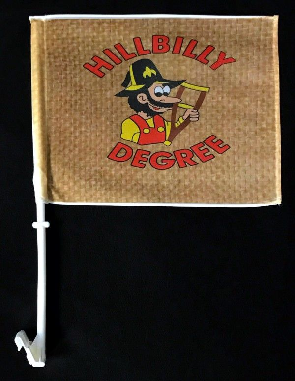 Hillbilly Degree Full Color Auto or Motorcyle Flag