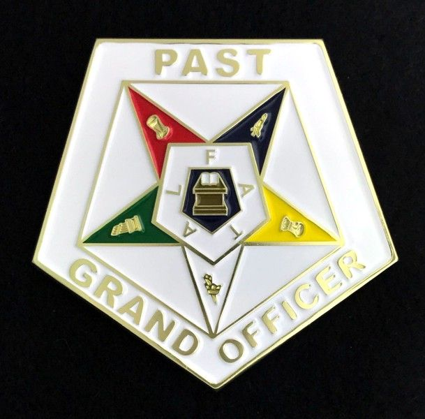 Eastern Star Past Grand Officer Car Auto Emblem