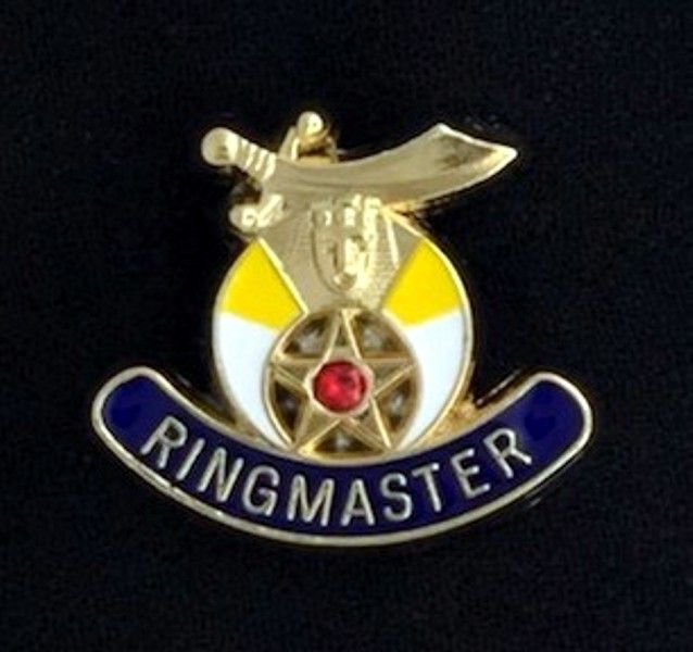 Shrine Ringmaster Lapel Pin with Stone - Click Image to Close