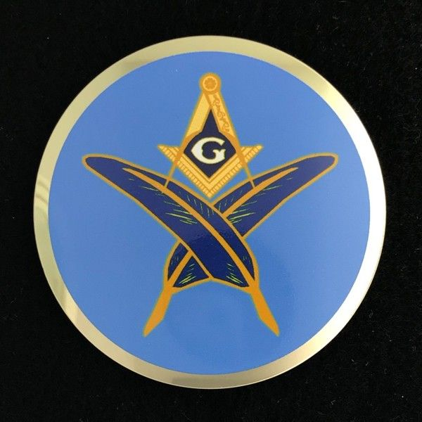 Masonic Lodge Secretary Car Auto Emblem