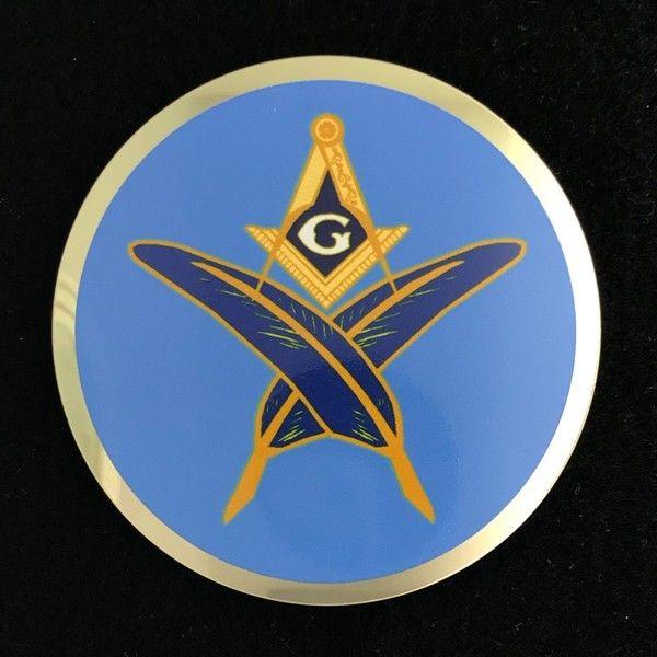 Masonic Secretary Auto Emblem New