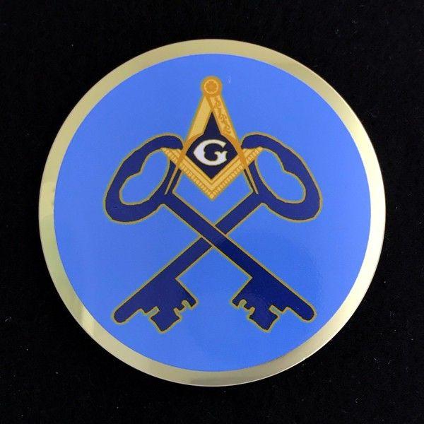 Masonic Treasurer Auto Emblem New