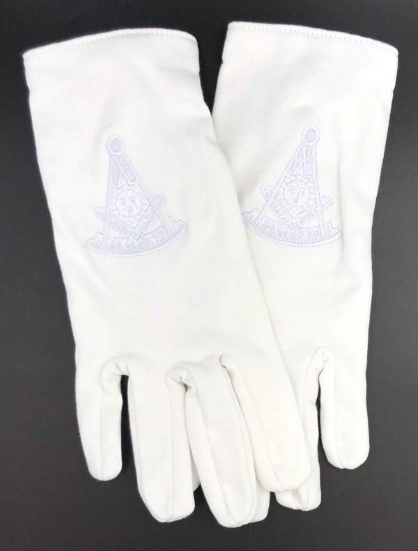 Masonic Past Master White Gloves New For Sale