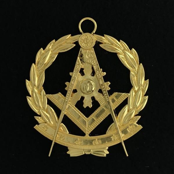 Masonic Past Master Collar Jewel Gold Wreath New