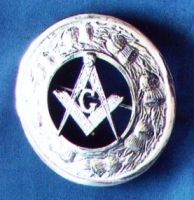 Masonic Kilt Badge Silver New
