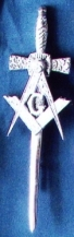Masonic Emblem Kilt Pin Silver New