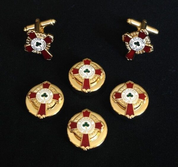 Scottish Rite KCCH Button Covers Cuff Links New