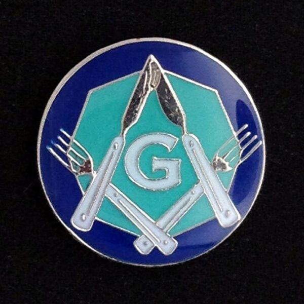 Masonic Knife Fork Degree Lapel Pin new