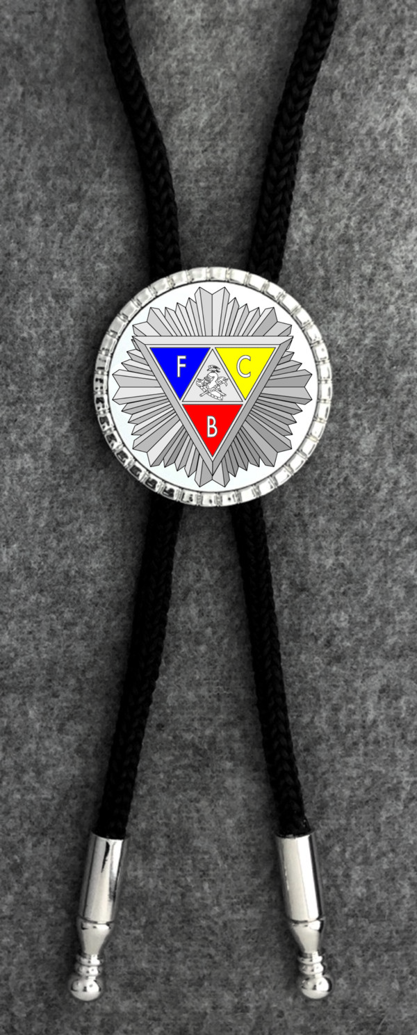 Knights of Pythias Bolo Tie (3) - Emblem with Starburst