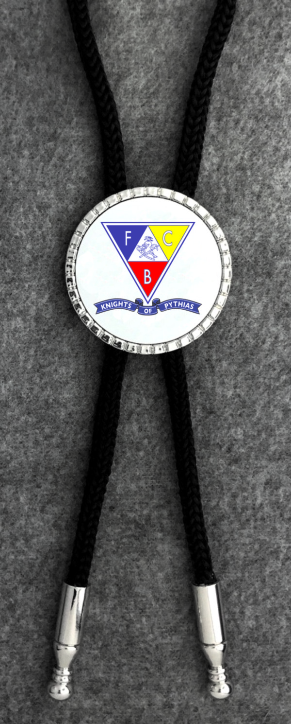 Knights of Pythias Bolo Tie (2) - Triangle Emblem with Banner