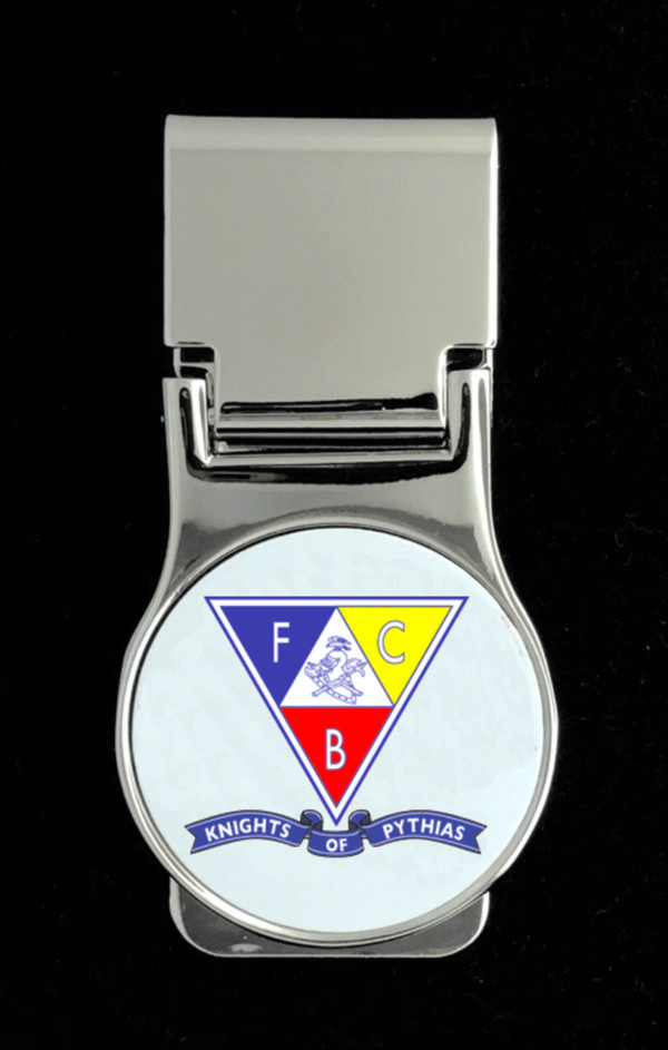 Knights of Pythias Money Clip (2) - Triangle Emblem with Banner