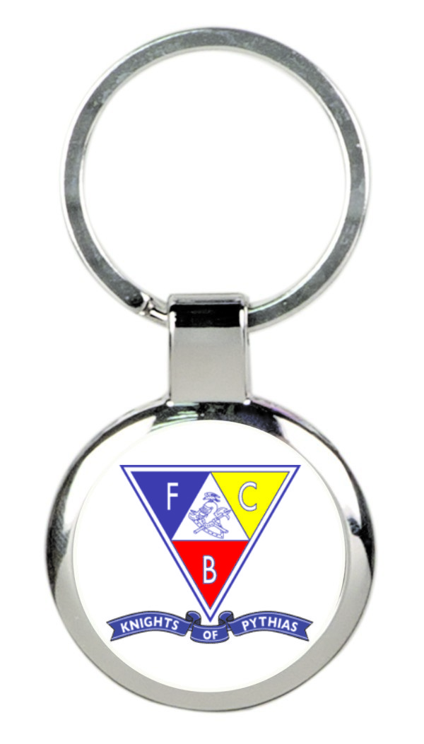 Knights of Pythias Key Tag (2) - Triangle Emblem with Banner
