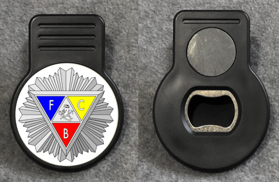Knights of Pythias Memo Magnet with Bottle Opener