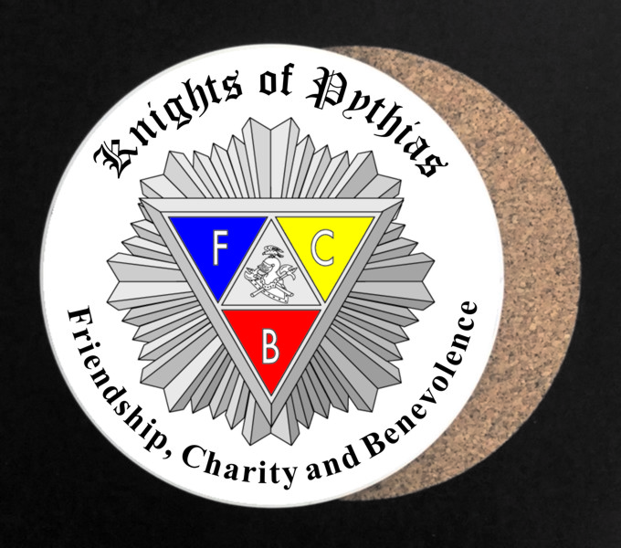 Knights of Pythias Full Color Drink Coaster - Round