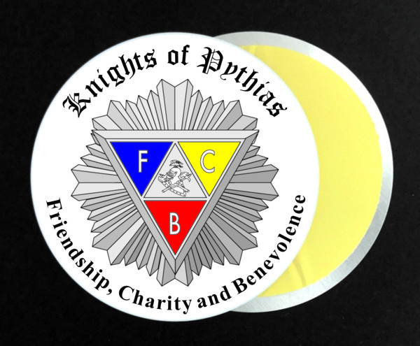 Knights of Pythias Full Color Aluminum Auto Emblem