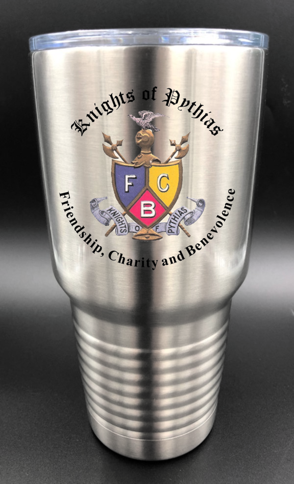Knights of Pythias Stainless Steel Cup Tumbler