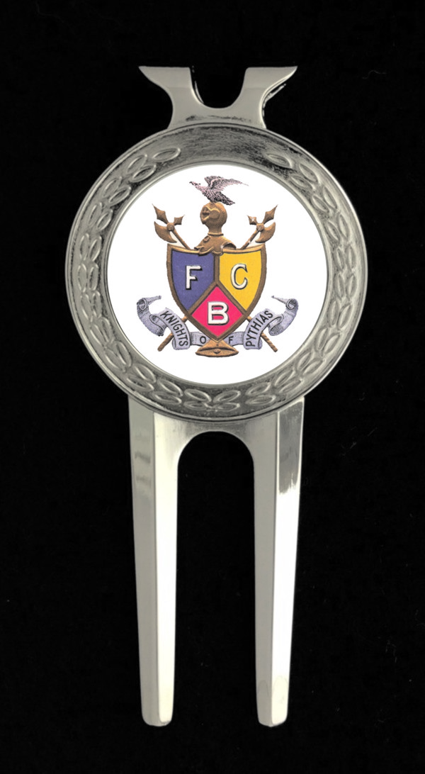 Knights of Pythias Golf Divot Tool (4) - Vintage Emblem