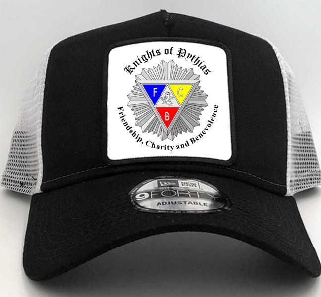 Knights of Pythias New Era Cap in Black with Square Patch (2)
