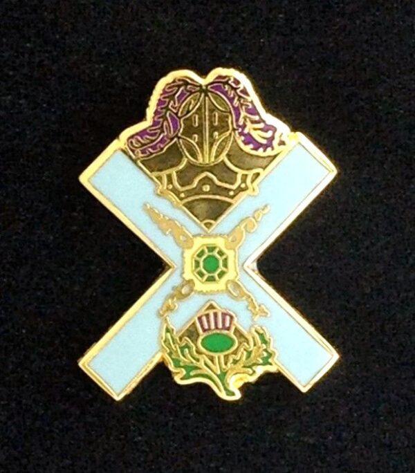 Scottish Rite Knight of St. Andrew Lapel Pin New