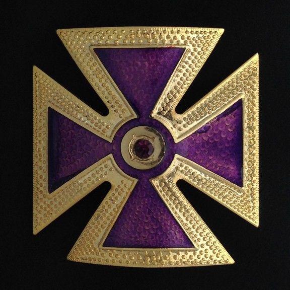 Knights Templar Past Grand Commander Cap Cross Metal New