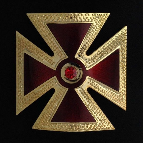 Knights Templar Grand Commandery Cap Cross Metal New