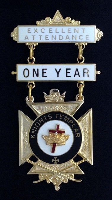 Knight Templar Excellent Attendance Jewel New For Sale