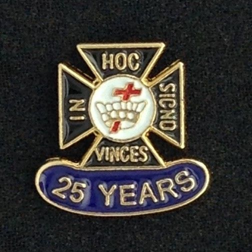 Knights Templar 25 Year Lapel Pin New