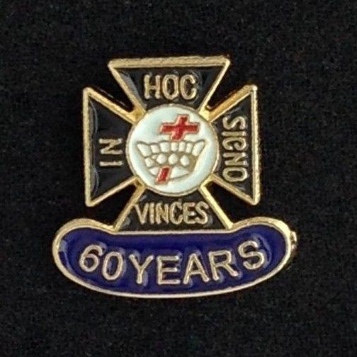 Knights Templar 60 Year Lapel Pin New