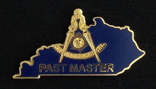 Masonic Past Master Kentucky Lapel Pin New