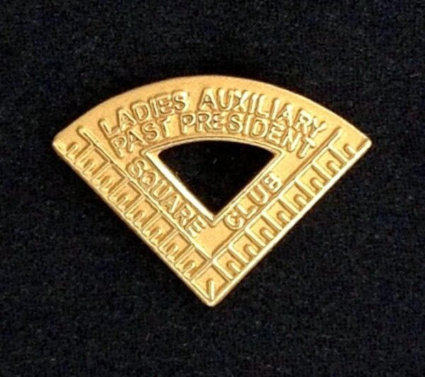 Square Club Ladies Auxiliary Past President Lapel Pin New