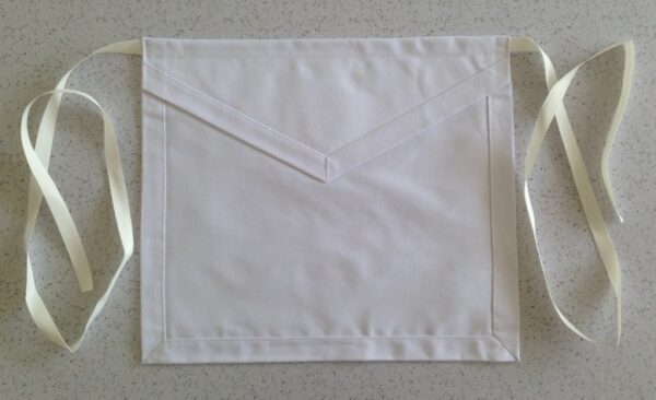 Masonic Lodge Cloth Apron White New For Sale