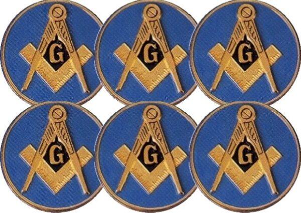 Masonic Auto Emblem Light Blue New For Sale