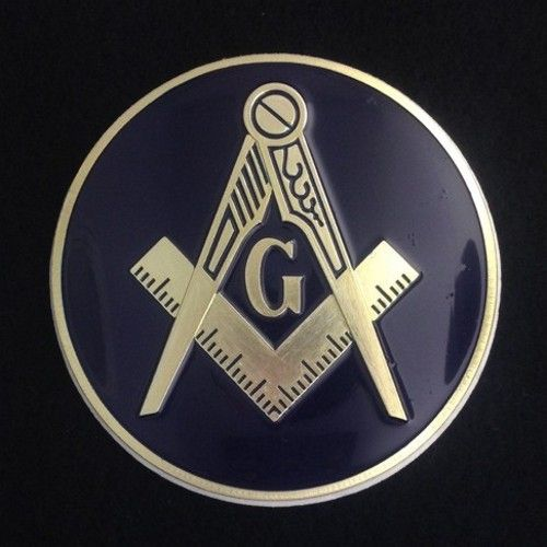 Masonic Auto Emblem Dark Blue New For Sale