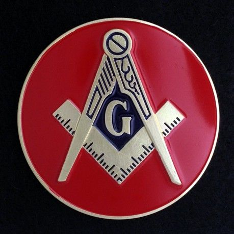 Masonic Auto Emblem Red New For Sale