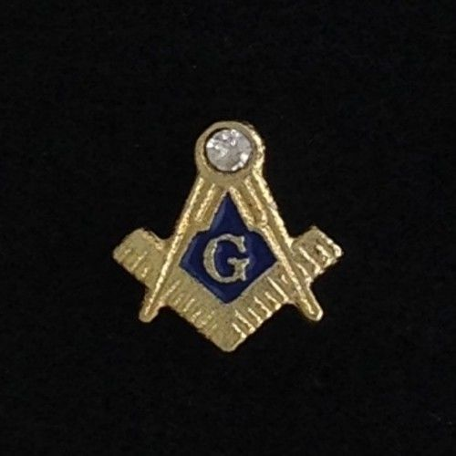Masonic Lapel Pin with Stone