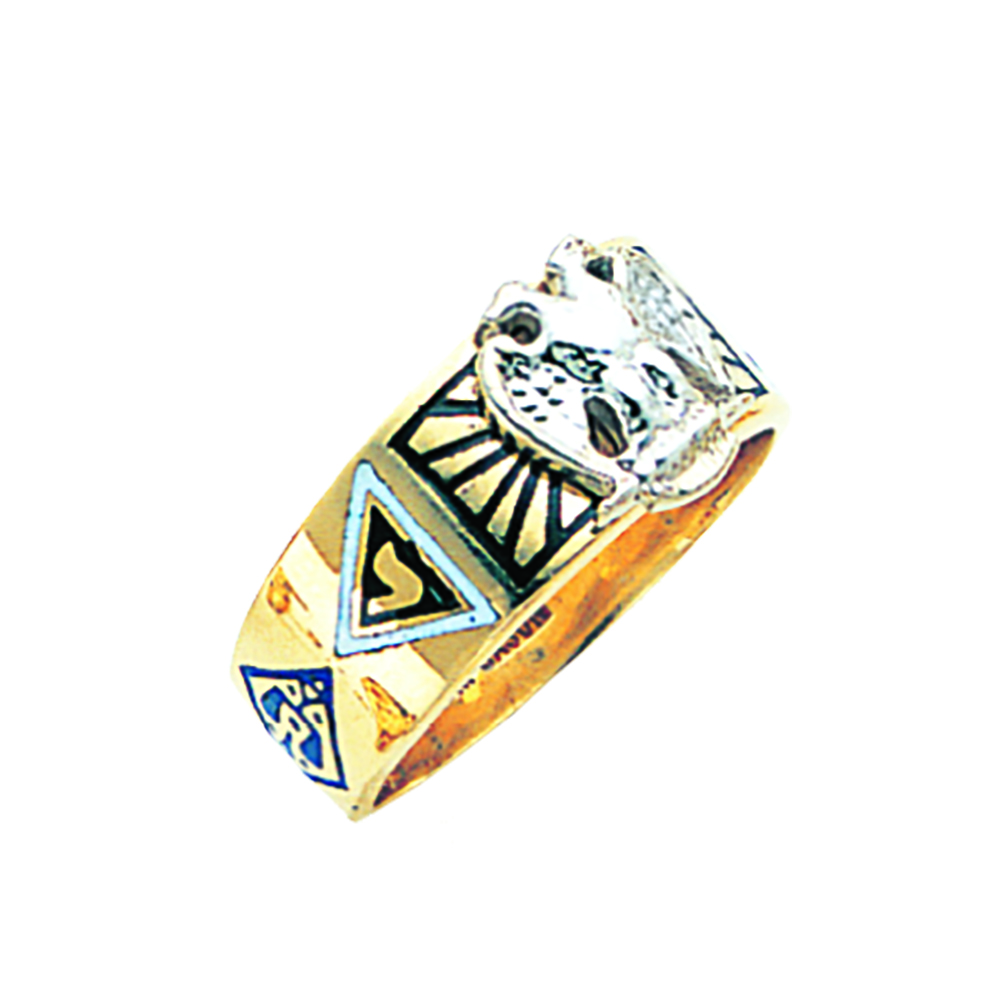 Scottish Rite Ring - Solid Back in 10K Gold (9)