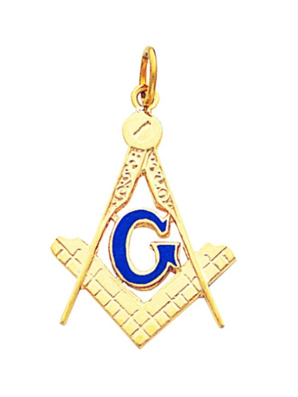 Masonic Square Compasses Pendant Gold New