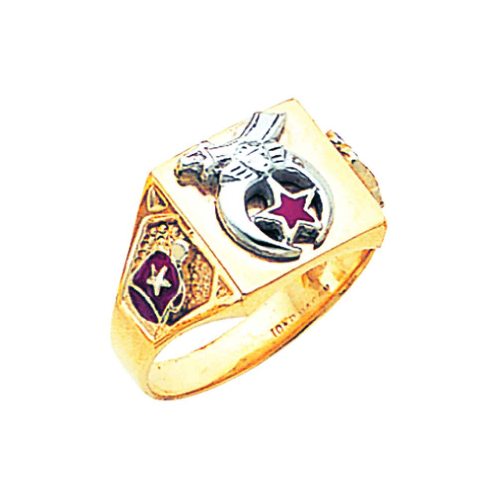 Shriner Ring - Solid Back in 10K Gold (8)