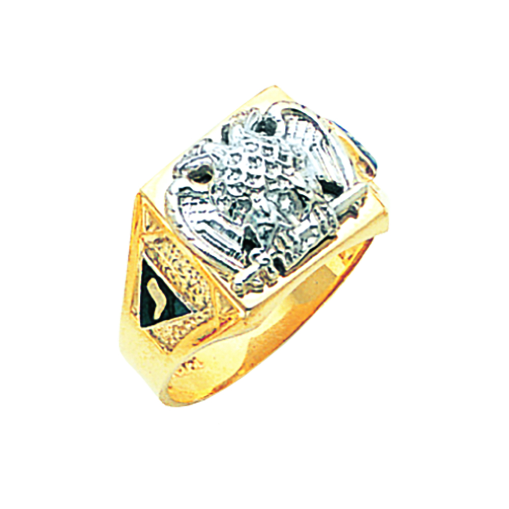 Scottish Rite Ring - Solid Back in 10K Gold (10)