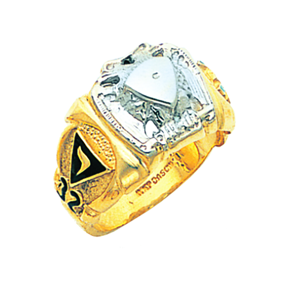 Scottish Rite Ring Mounting - Partial Solid Back in 10K Gold (20)