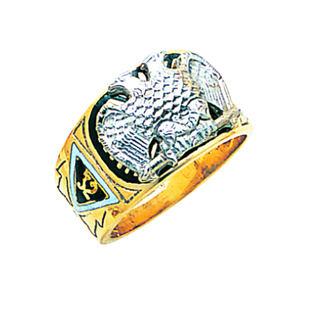 Scottish Rite Ring - Solid Back in 10K Gold (34)