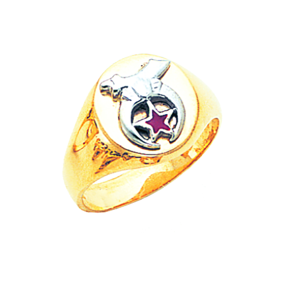 Shriner Ring - Solid Back in 10K Gold (6)