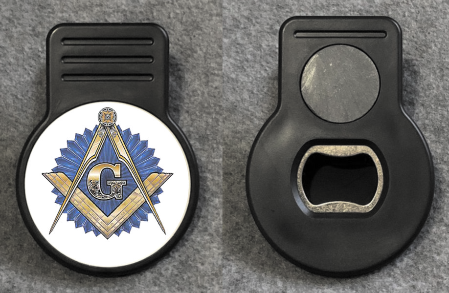 Masonic Memo Magnet with Bottle Opener
