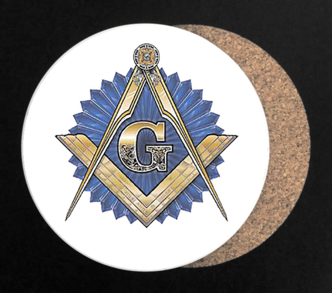 Masonic Full Color Drink Coaster - Round