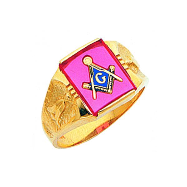 Masonic Blue Lodge Ring Gold New