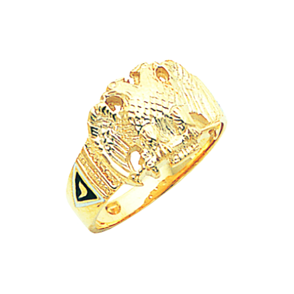 Scottish Rite Ring - Solid Back in 10K Gold (7)