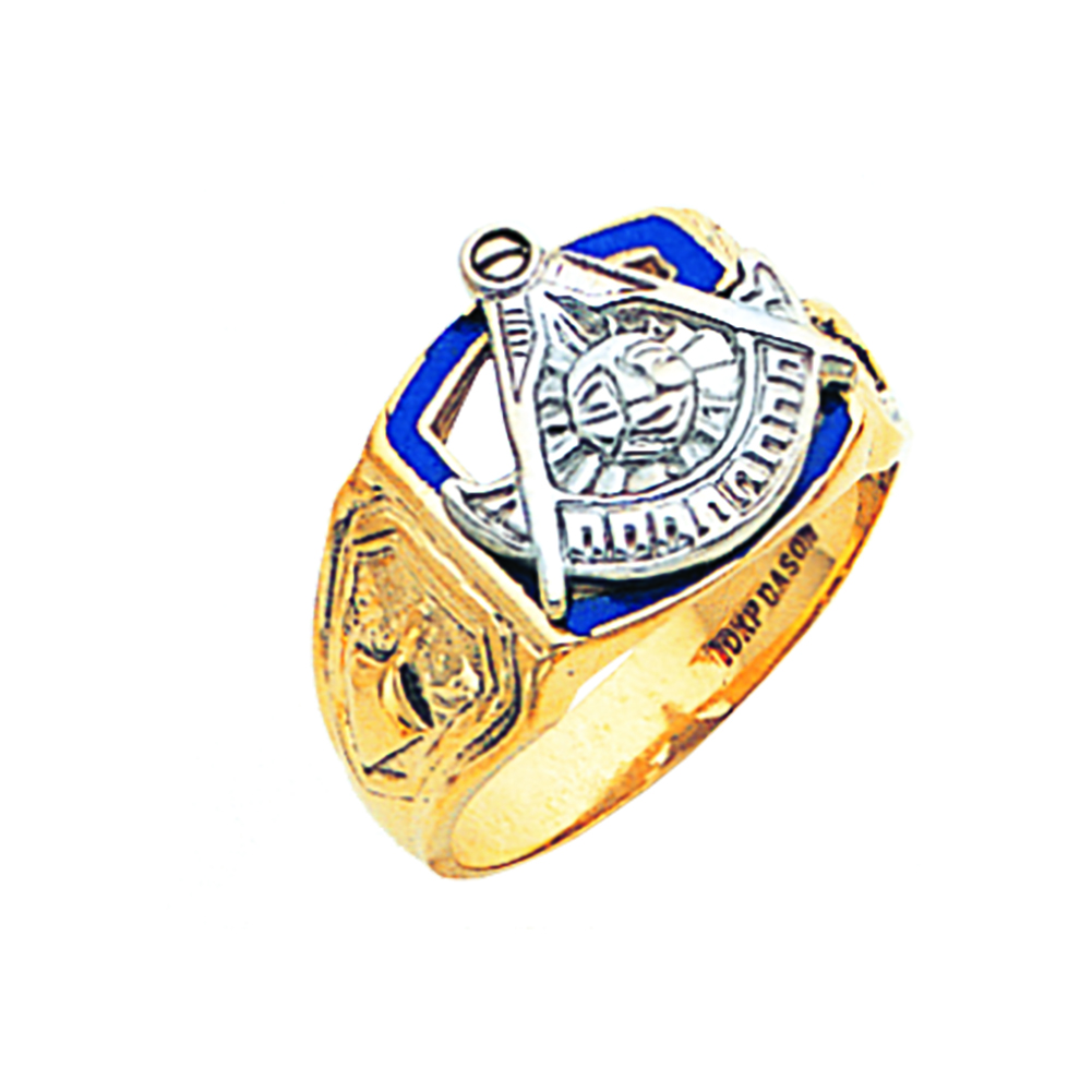 Masonic Past Master Ring - Open Back in 10K Gold (23)