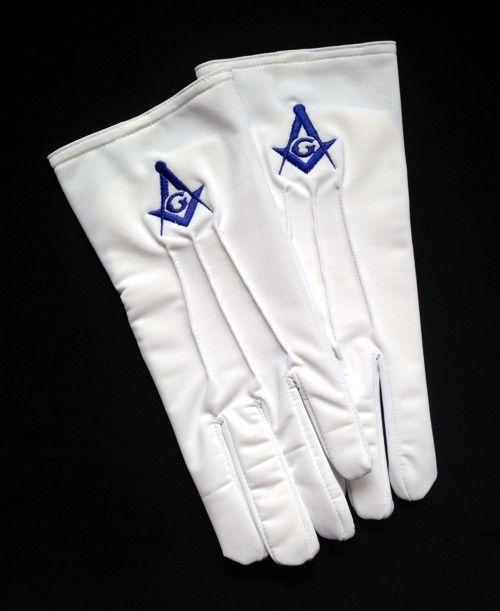Masonic Emblem Gloves New For Sale