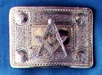 Masonic Kilt Belt Buckle Silver New