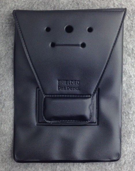 Magnetic Badge Holder Black New